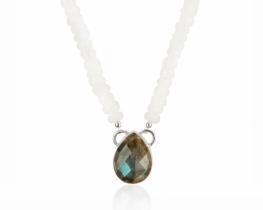 Ogrlica POLARNA LEPOTICA - mesečev kamen