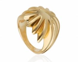 Srebrn prstan Silver & Gold STAR