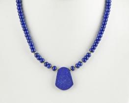 Zlata ogrlica lapis MARINE BLUE