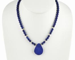 Ogrlica ATLAS - lapis lazuli in zlato