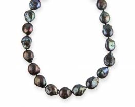 Biserna ogrlica BLACK VELVET 16 x 18 mm