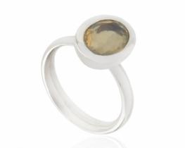 Srebrn prstan OPAL 8 x 10 mm