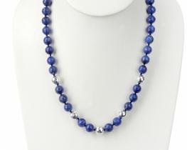 Ogrlica lapis ROYAL BLUE 10 mm