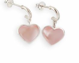 Srebrni uhani Love Heart 10 x 11 mm