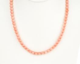 Ogrlica iz roza koral 7 mm