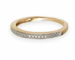 Diamantni prstan AQUARIUS roza zlato