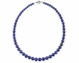 Ogrlica lapis lazuli 5 - 10 mm Marine Blue