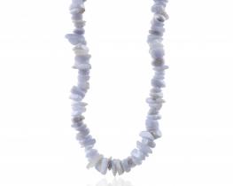 Ogrlica modri kalcedon KAMEN