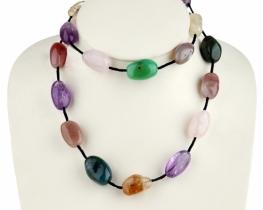 Ogrlica BON AIR iz mavričnih kristalov