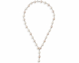 Srebrna biserna ogrlica EVA 8 mm