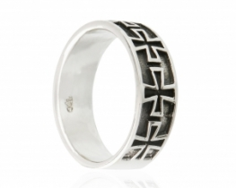 Srebrn prstan MALTEŠKI KRIŽ