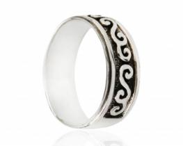 Moški srebrn prstan POZEJDON