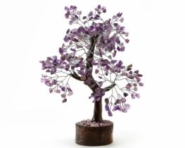 Drevo s kristali ametist/ kamena strela/ aventurin/ roževec/ fluorit