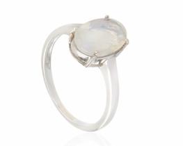 Srebrn prstan ANDANTE mavrični opal