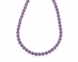 Ogrlica in zapestnica AMETIST Lavender 8 mm