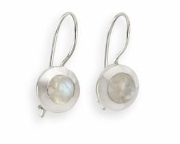 Srebrni uhani ALISA - več kamnov