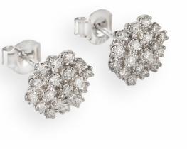 Zlati uhani z diamanti ILLUMINUS