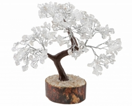 Drevo s kristali fluorit/ kamena strela/ aventurin