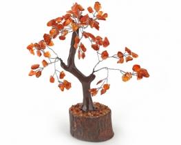 Drevo s kristali karneol / aventurin/ fluorit/ ametist/kamena strela in roževec