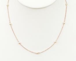 Srebrna verižica z biseri - dve barvi