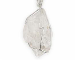 Srebrn obesek HERKIMER DIAMANT - sedem kristalov