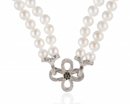 Biserna ogrlica in zapestnica Miramar- komplet