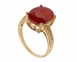 Prstan KALEJDOSKOP - rubin z diamanti