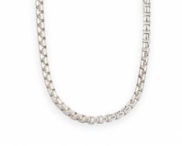 Unisex srebrna verižica - pletenje box