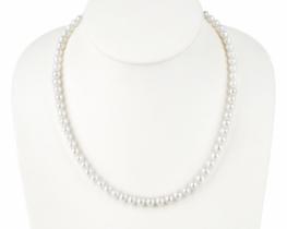 Biserna ogrlica in zapestnica MIRAMAR 7 mm A- Komplet