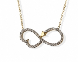 Srebrna verižica VALENTINO z obeskom srce