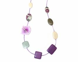 Modna ogrlica Capri lila