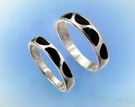Prstan za zaljubljene Black & White