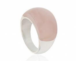 Srebrn prstan OASIS Roževec, Ametist, Mesečev, Oniks