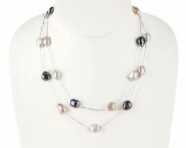 Modna ogrlica DIXIE z biseri dolžine 50, 90 in 95 cm