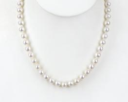 Biserna ogrlica CASHMERE BEAUTY - Akoya biseri 8,5 mm