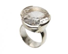 Srebrn prstan kamena strela BRILIANTINA