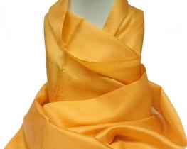 Šal COCOON 100 % svila - oranžna