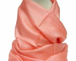 Šal COCOON 100 % svila - koralno roza