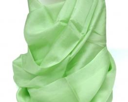 Šal COCOON - 100 % svila  - pistacija zelena