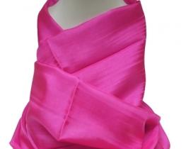 Šal COCOON 100 % svila  - roza fuksija