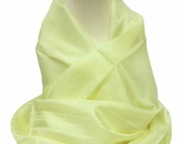 Šal COCOON 100 % svila - pastelno rumena