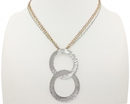 Srebrna ogrlica dva kroga - MANDORLA