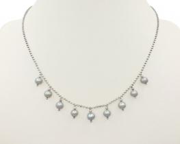 Ogrlica Silver PEARL