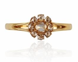 Zlat prstan Diamond ROSE STAR