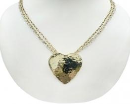 Srebrna ogrlica ZLATO srce