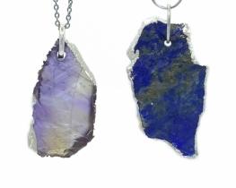 Obesek Ametrin in Lapis Lazuli NATUR