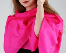 Šal PURE CASHMERE - roza