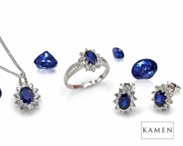 Komplet nakita LOVE BEAM - Modri safir