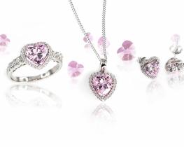 Komplet nakita LOVE HEART - PINK