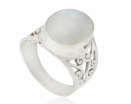 Srebrn prstan LYRA